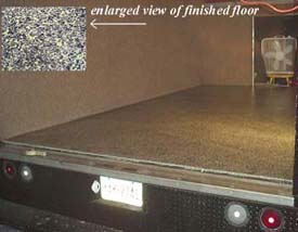 Band truck after Flex Bon Seamless Flooring