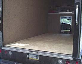 Band truck before Flex Bon Seamless Flooring
