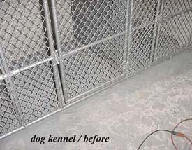 Dog Kennel before Flex Bon